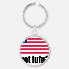 Got Fufu Liberian Flag Round Keychain