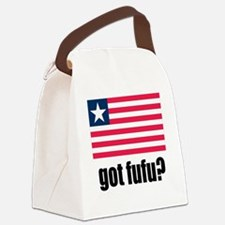 Got Fufu Liberian Flag Canvas Lunch Bag