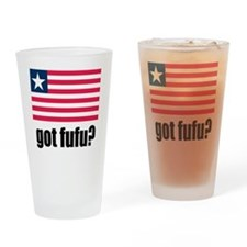 Got Fufu Liberian Flag Drinking Glass