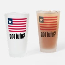 Got Fufu Liberian Flag Drinking Glass