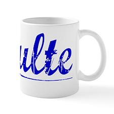 Schulte, Blue, Aged Mug