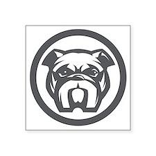 """Dog Head Square Sticker 3"""" x 3"""""""