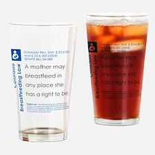 Breastfeeding In Public Law - Color Drinking Glass