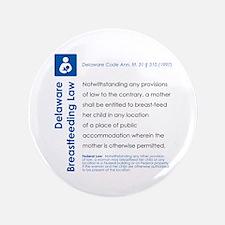 """Breastfeeding In Public Law - Delaware 3.5"""" Button"""