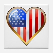 US HeartOtline Tile Coaster