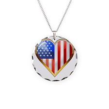 US HeartOtline Necklace