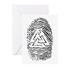"""Heathen Fingerprint"" Greeting Cards (Pk of 10"