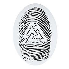 """Heathen Fingerprint"" Oval Ornament"