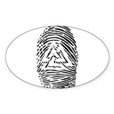 """Heathen Fingerprint"" Oval Decal"