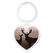 Deer Heart Keychain