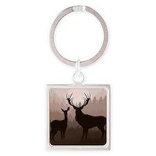 Deer Square Keychain