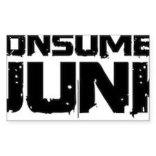 Consumer Junk name Black Decal