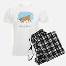 shibainusnowCPcard Pajamas