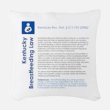 Breastfeeding In Public Law -  Woven Throw Pillow