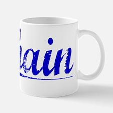 Shain, Blue, Aged Mug