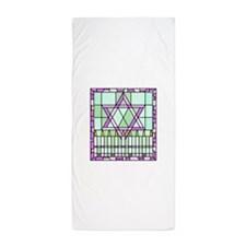 stained glass window Star of David and candles Bea