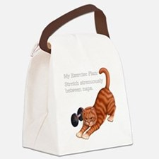 Exercise Plan B Canvas Lunch Bag