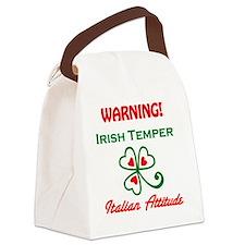 Irish Temper/Italian Attitude Canvas Lunch Bag