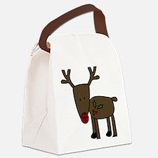 Standing Reindeer Canvas Lunch Bag