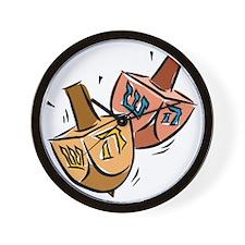 two spinning dreidels Wall Clock