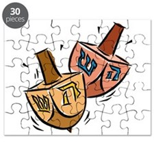 two spinning dreidels Puzzle