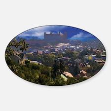 Bratislava Castle Oil Sticker (Oval)