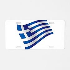 Greek Flag Aluminum License Plate
