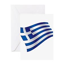 Greek Flag Greeting Cards
