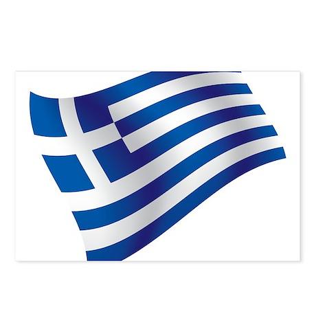 Greek Flag Postcards (Package of 8)