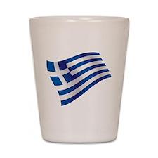 Greek Flag Shot Glass