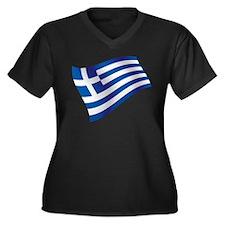 Greek Flag Plus Size T-Shirt