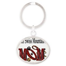 Greater Swiss Mtn Dog Mom Oval Keychain