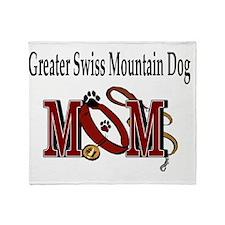 Greater Swiss Mtn Dog Mom Throw Blanket