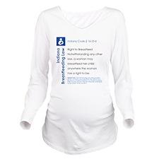 Breastfeeding In Pub Long Sleeve Maternity T-Shirt