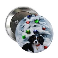 "Cavalier King Charles Christmas 2.25"" Button"