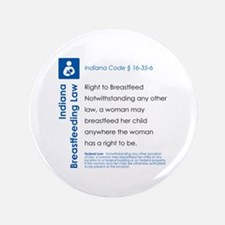 "Breastfeeding In Public Law - Indiana 3.5"" Button"