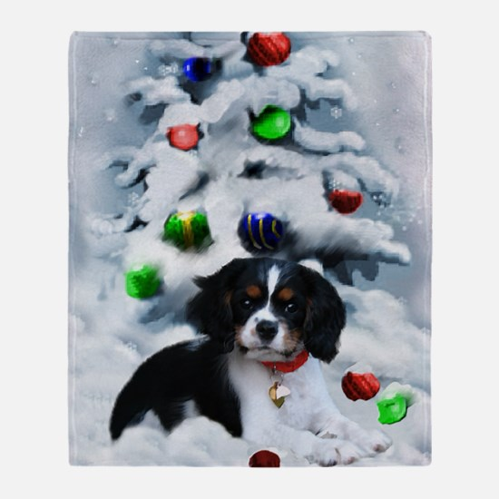 Cavalier King Charles Christmas Throw Blanket