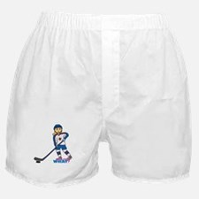 Hockey Player Girl Boxer Shorts