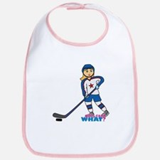Hockey Player Girl Bib