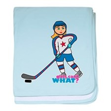 Hockey Player Girl baby blanket