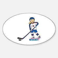Hockey Player Girl Decal