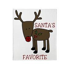 Santas Favorite Throw Blanket