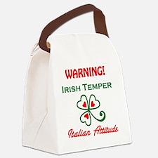 Irish Temper Italian Attitude Canvas Lunch Bag