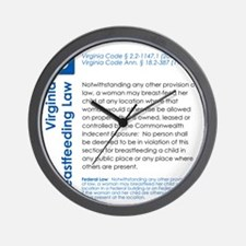 Breastfeeding In Public Law - Virginia Wall Clock