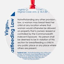 Breastfeeding In Public Law - Virgi Ornament