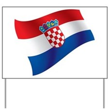 Croatian Flag Yard Sign