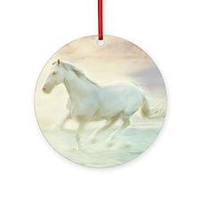 Beautiful Horse Round Ornament