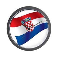 Croatian Flag Wall Clock