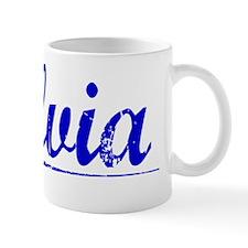 Silvia, Blue, Aged Mug