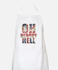 Oh Bloody Hell white Apron